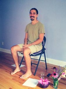 Ryan Kurczak leads an introduction to Kriya Yoga principles in Morgantown, WV.