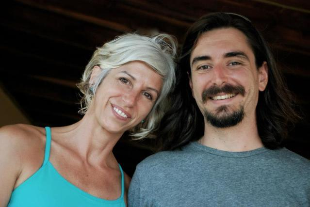 Sonya Klepper (Hatha Yoga Teacher) and Ryan Kurczak (Astrologer/Meditation Teacher) on our last day together in Nosara.